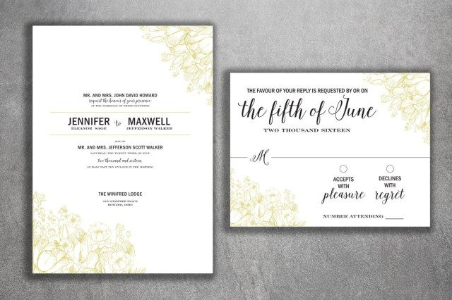 Cheap Wedding Invitations Sets Vintage Floral Wedding Invitations Set Printed Country Floral