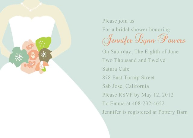 Cheap Wedding Shower Invitations Chic Mint Green Wedding Dress Bridal Shower Invitations Ewbs033 As