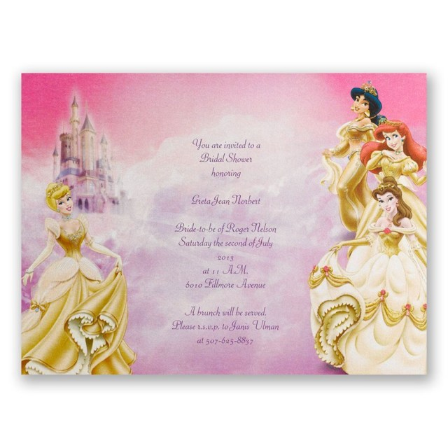 Cheap Wedding Shower Invitations Disney All The Girls Bridal Shower Invitation Invitations Dawn