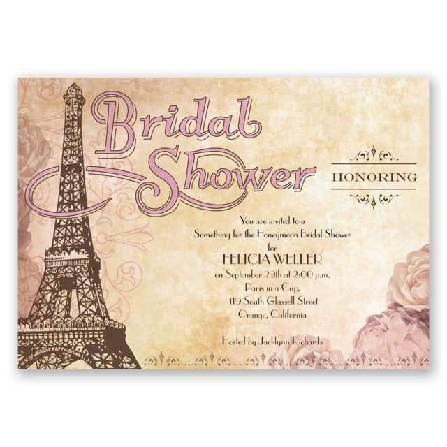 Cheap Wedding Shower Invitations Eiffel Tower Bridal Shower Invitation Invitations Dawn