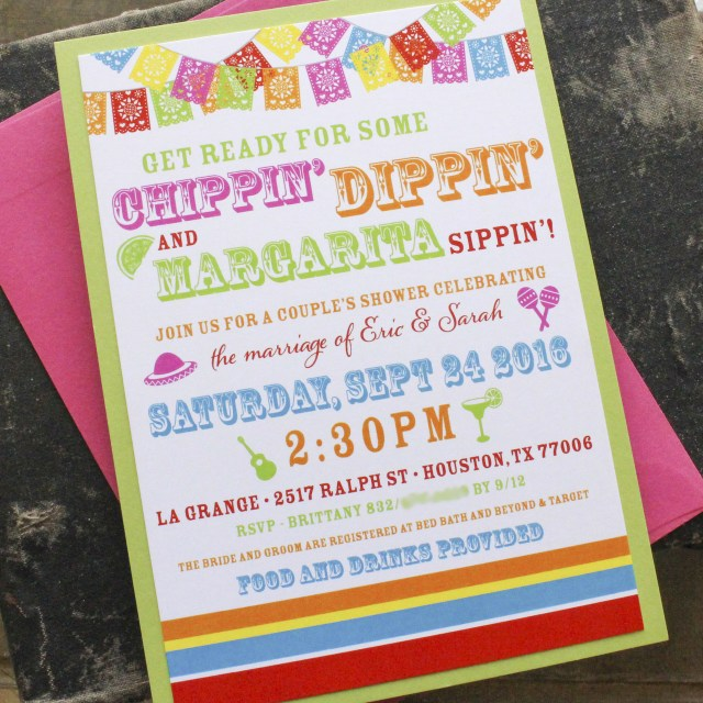 Coed Wedding Shower Invitations Fiesta Couples Shower Invitation Bridal Shower Invitation