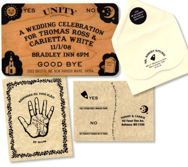 Cool Wedding Invitations The 11 Coolest Wedding Invitations Slideshow Ouija Board