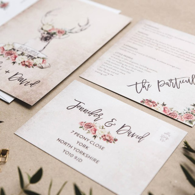 Country Wedding Invitations Cheap Cheap Wedding Invitations Sets Elegant Stag And Rose Country Wedding