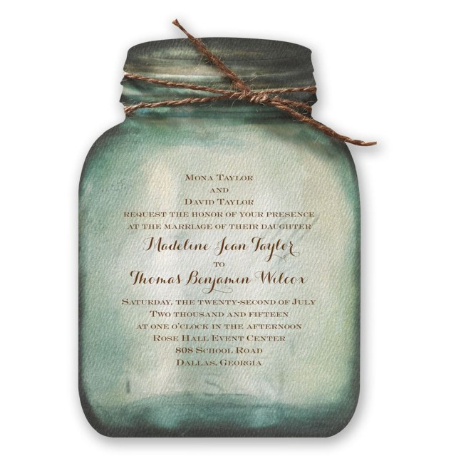 Country Wedding Invitations Cheap Country Canning Jar Invitation