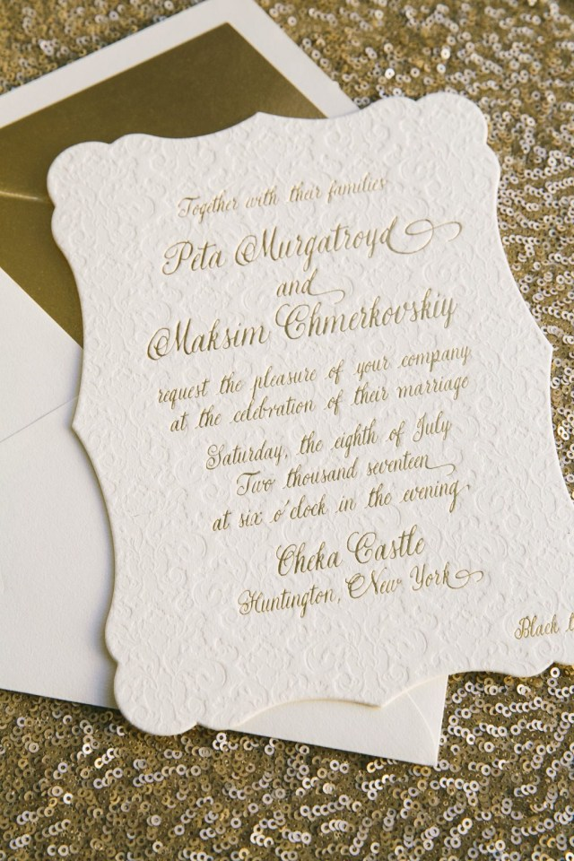 Custom Wedding Invitation Custom Wedding Invitations For Peta Murgatroyd Maksim Chmerkovskiy