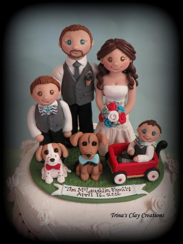 Decorating Wagon For Baby In Wedding Wedding Cake Topper Custom Cake Topper Bride And Groom Etsy