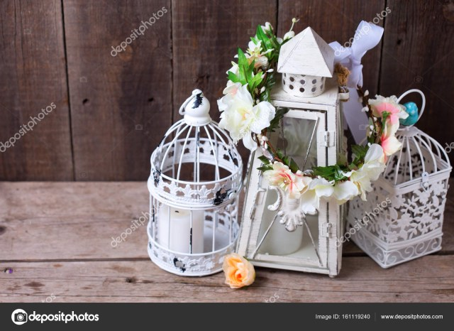 Decorative Lanterns For Weddings Wedding Background Decorative Flower Wreath And Decorative Lanterns