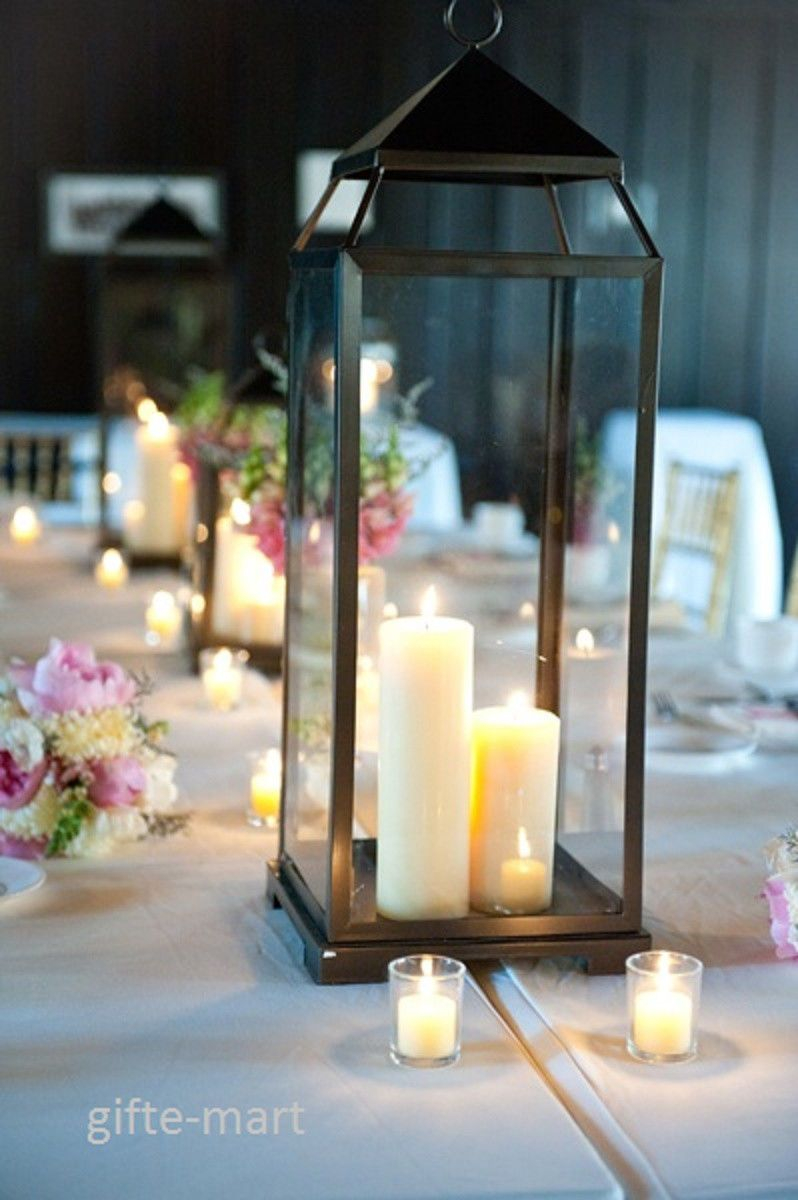 Decorative Lanterns For Weddings Wedding Table Lantern Decorations Wedding Decor Decorative Table