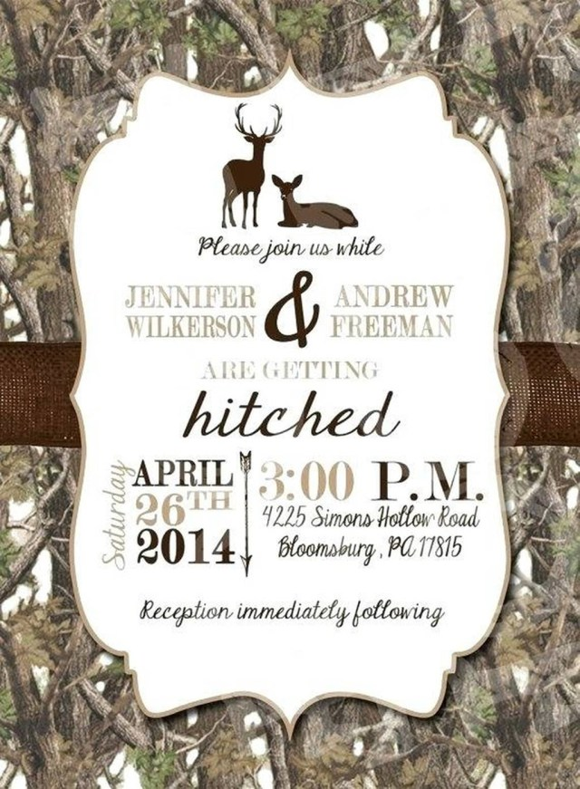 Deer Wedding Invitations 206458 Cheap Camo Wedding Invitations Or White Deer Wedding