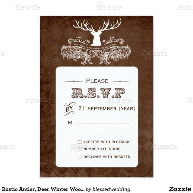 Deer Wedding Invitations Camo Wedding Invitations Inspirational Rustic Antler Deer Winter