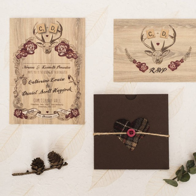 Deer Wedding Invitations Deer Winter Wedding Invitation Something Kinda Cute