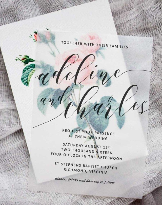 Do It Yourself Wedding Invitations Diy Floral Wedding Invitations Pipkin Paper Company