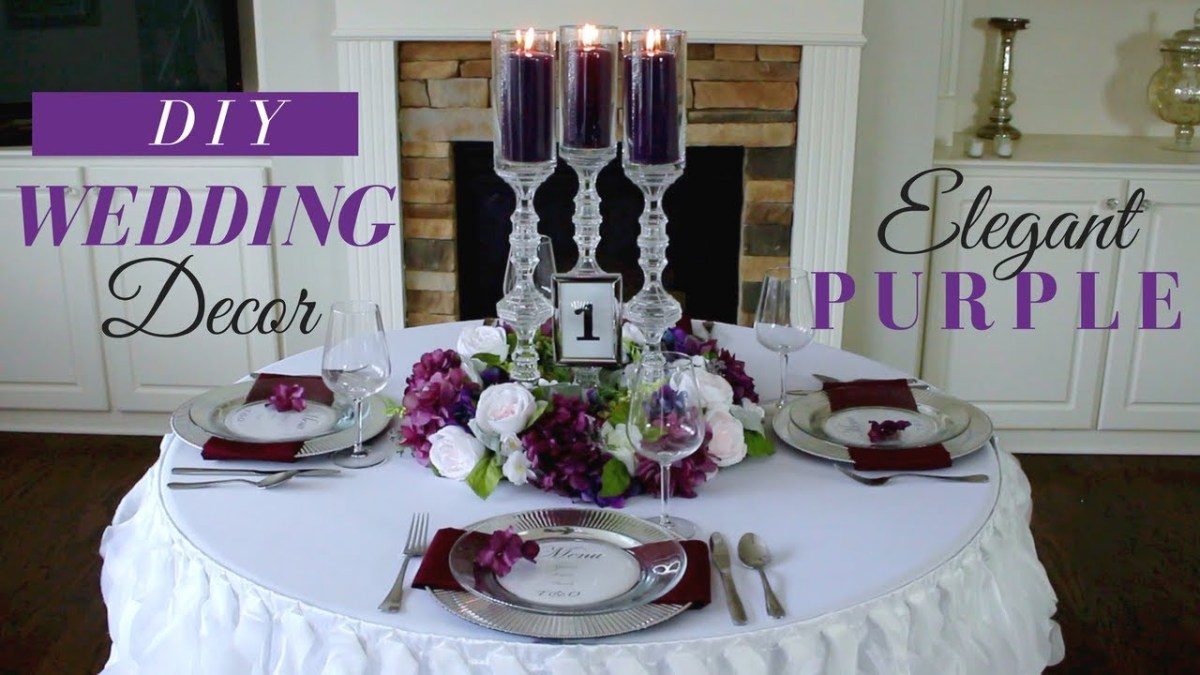 Elegant Wedding Decor Diy Elegant Wedding Reception Decoration Purple Wedding