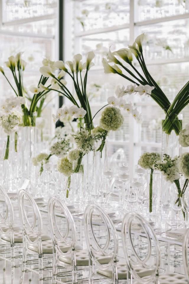 Elegant Wedding Decor Modern White Wedding With Clear Decor Elegantweddingca