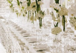 Elegant Wedding Decor Modern White Wedding With Clear Decor Elegantweddingca