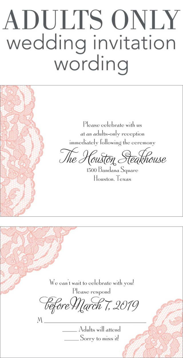 Example Of Wedding Invitation Adults Only Wedding Invitation Wording Invitations Dawn