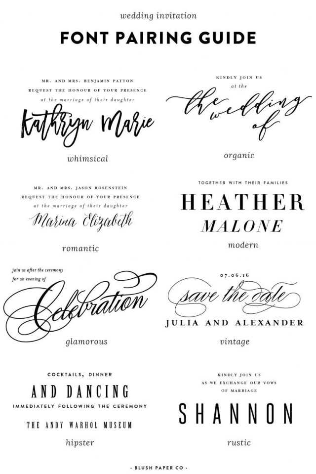Font For Wedding Invitations Guide To Using Fonts On Wedding Invitations Typography Pinterest