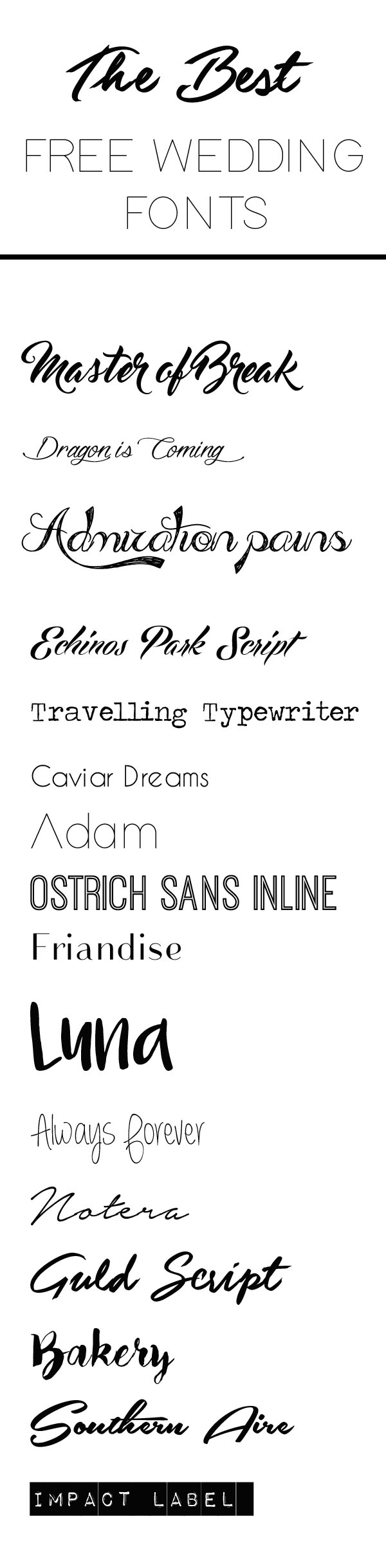 Font For Wedding Invitations The Best Free Fonts For Wedding Invitations Place Cards