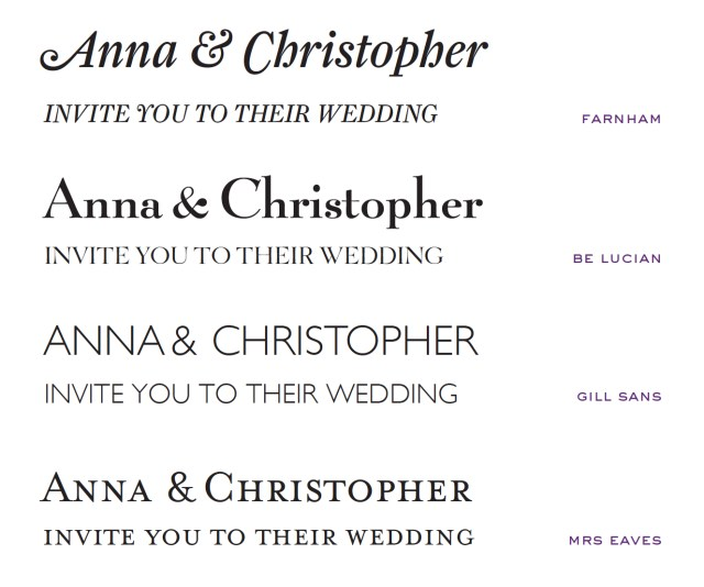 Font For Wedding Invitations Wedding Invitation Fonts At Emily Jo