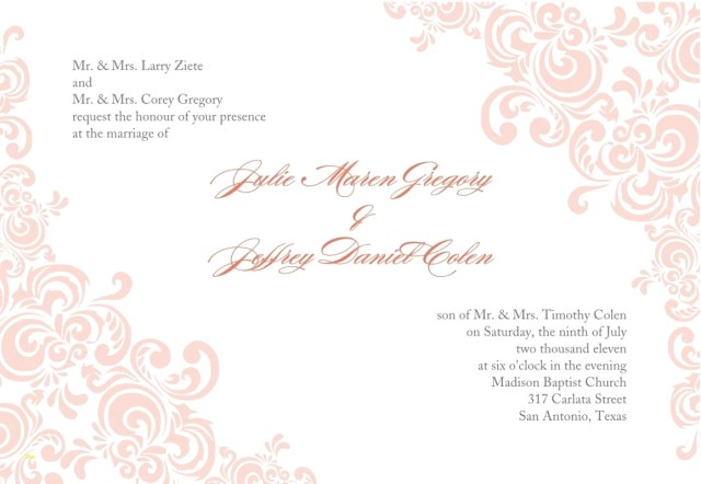 Free Printable Wedding Invitation Templates Download Blank Wedding Invitation Templates Beautiful Free Printable Wedding