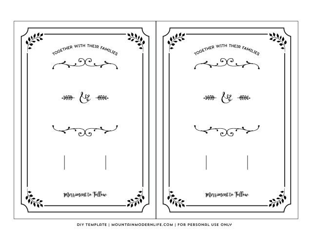 Free Wedding Invitation Printables 20 Free Wedding Invitation Printables Cafecanon