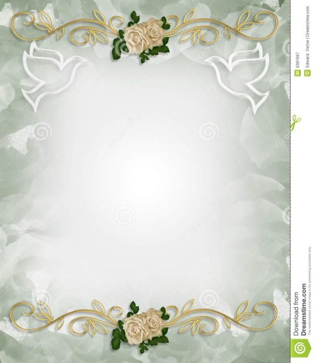 Free Wedding Invitation Printables Wedding Invitation Template Roses Stock Illustration Illustration