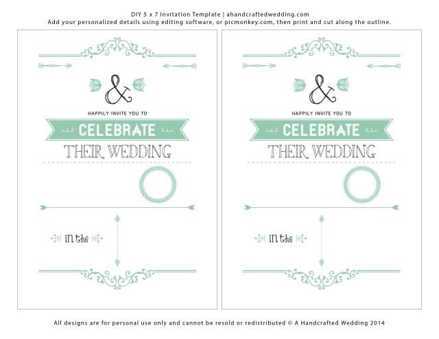Free Wedding Invitation Printables Wedding Invitation Templates Free Download Marina Gallery Fine Art