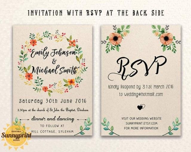 Free Wedding Invite Templates 20 Free Wedding Invitation Templates Printables Wedding