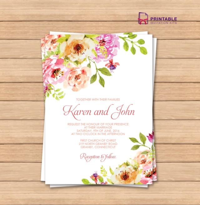 Free Wedding Invite Templates This Would Be Great With Different Colors Free Pdf Wedding