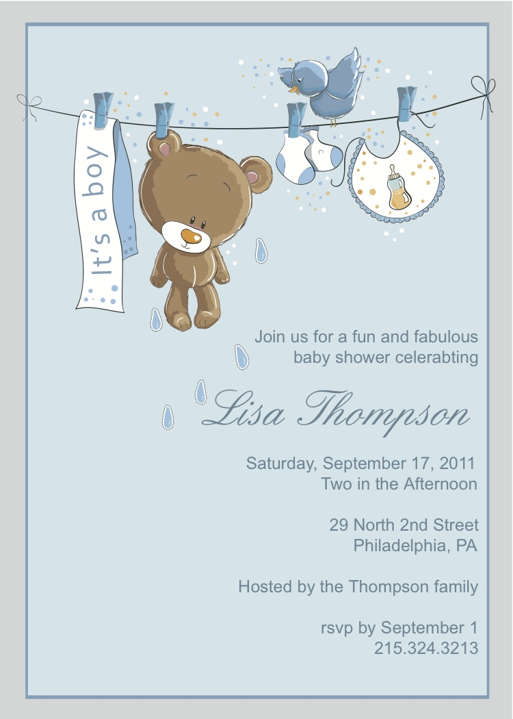 Free Wedding Shower Invitation Templates Ba Shower Boy Invitation Templates Free Ba Shower Invitations