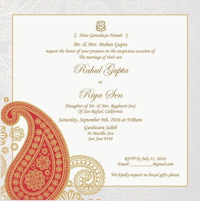 Hindu Wedding Invitations Wedding Invitation Wording For Hindu Wedding Ceremony Wedding Card
