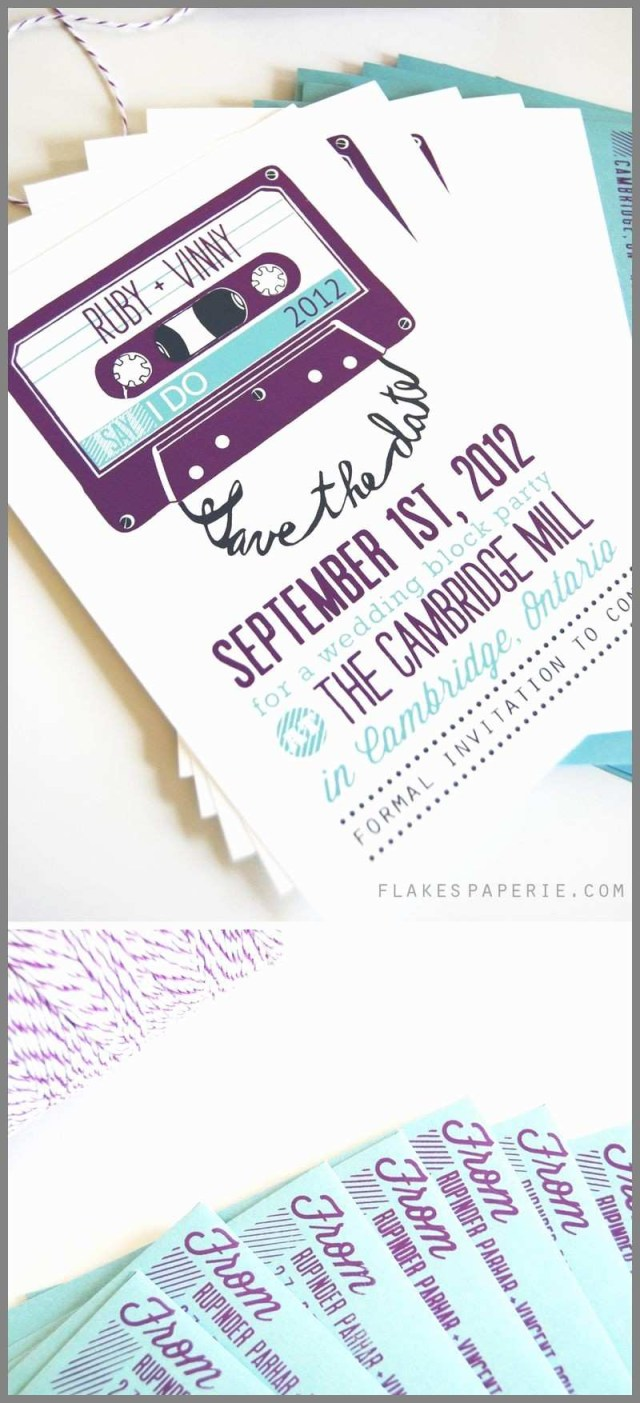Hipster Wedding Invitations Hipster Wedding Invitations Unique Mixtape Save The Date Best