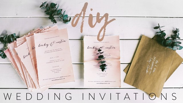 His And Hers Wedding Invitations Diy My Wedding Invitations With Me Youtube