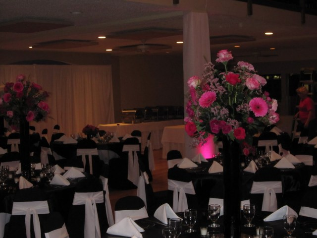 Hot Pink And Silver Wedding Decorations Aminattas Blog Hot Pink And Black Wedding