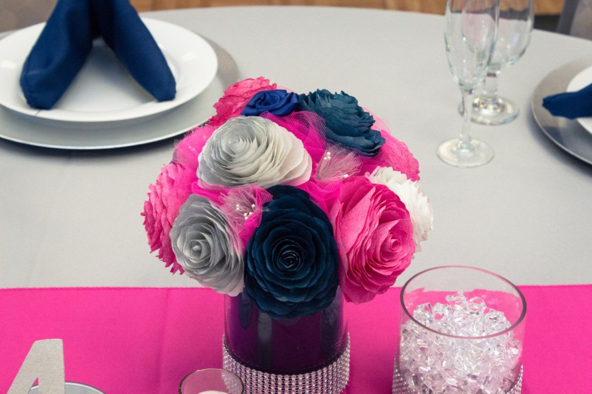 Hot Pink And Silver Wedding Decorations Navy Blue And Pink Wedding Decorations Navy Blue Hot Pink And