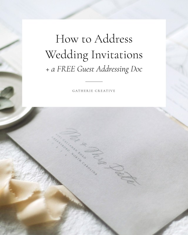 How To Address Wedding Invitations With Guest How To Write Guest Addresses On Wedding Invitations Correctly With