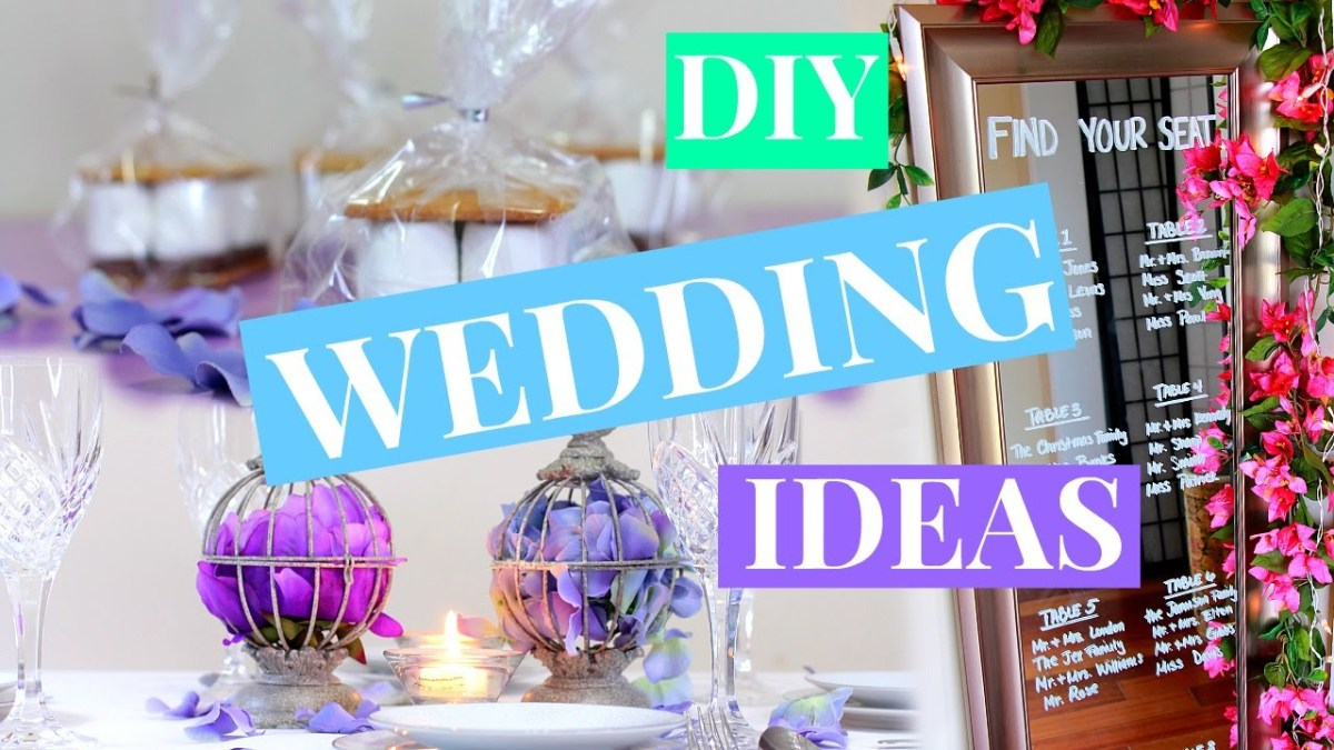 Ideas For Wedding Decorations 3 Easy Wedding Decor Ideas Wedding Diy Nia Nicole Youtube