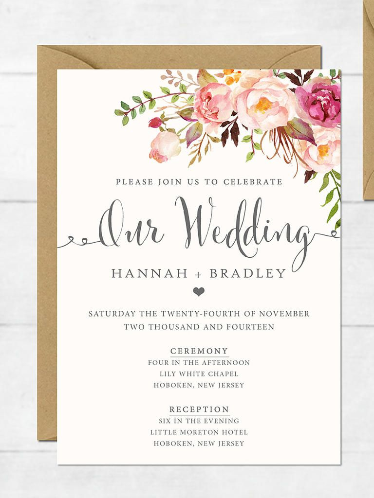 Invitations For Weddings 16 Printable Wedding Invitation Templates You Can Diy Future