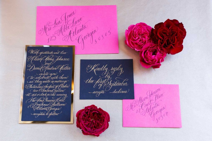 Invitations For Weddings Colorful Weddings Bold Weddings Pink Purple Wedding Invitations