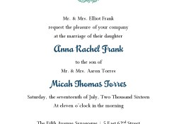 Jewish Wedding Invitations Jewish Wedding Invitation