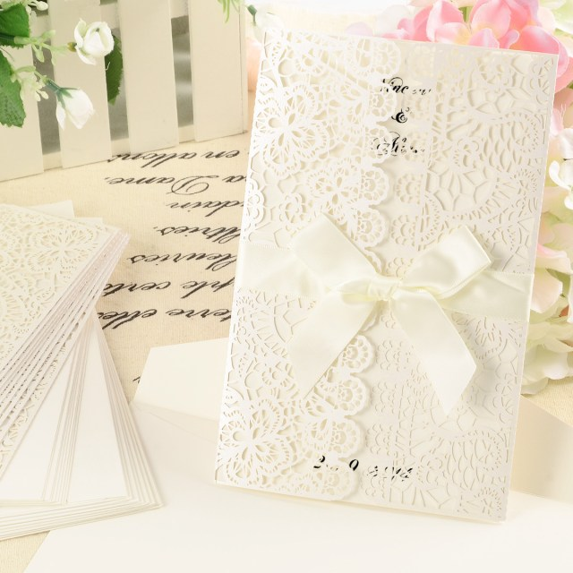 Laser Cut Wedding Invitations Diy 10x Lace Laser Cut Wedding Invitation Party Invites Card Envelopes