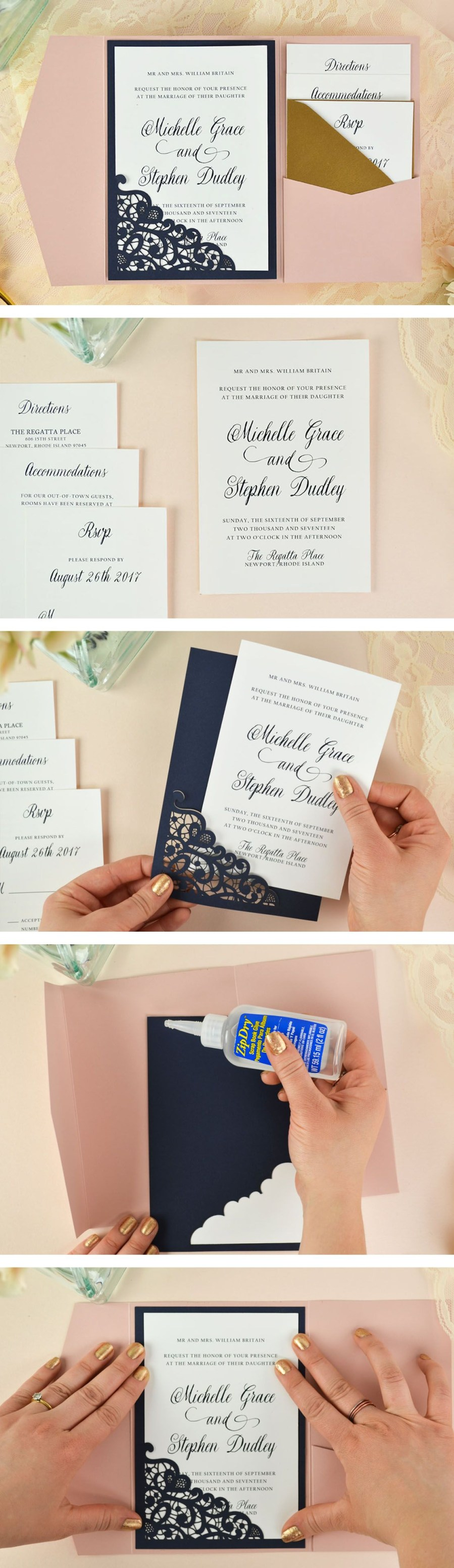 Laser Cut Wedding Invitations Diy How To Diy Laser Wedding Invitations With Slide In Cards Wedding