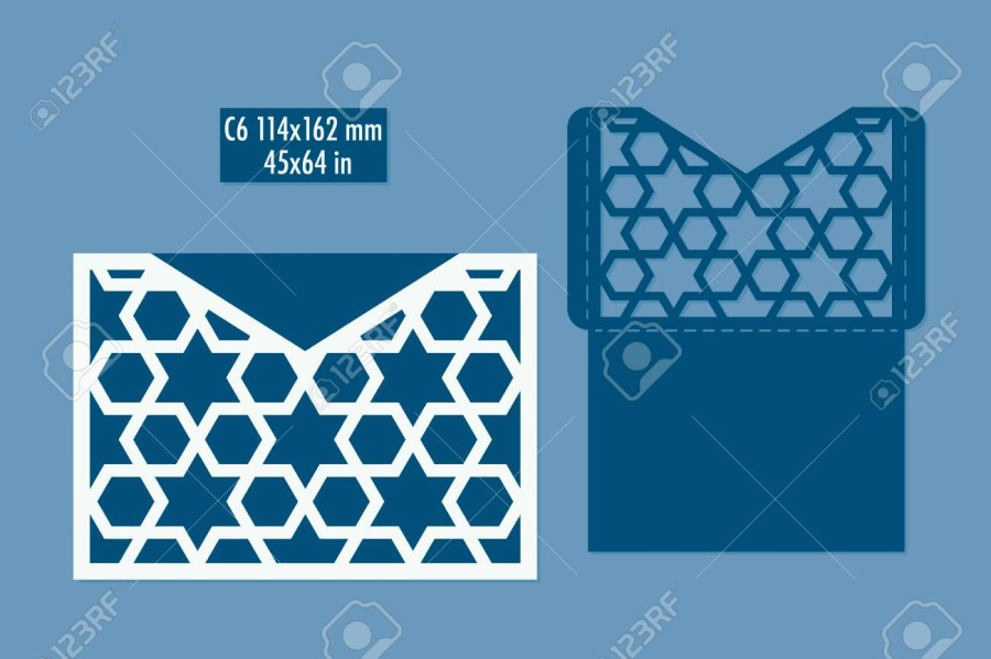 Laser Cut Wedding Invitations Diy Template Envelope For Laser Cut Diy Laser Cutting Envelope