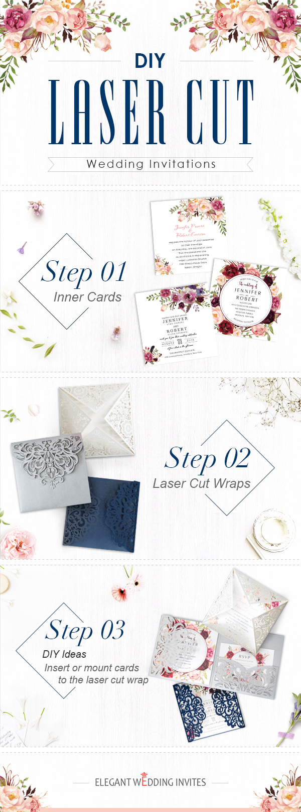 Laser Cut Wedding Invitations Diy Top 6 Diy Wedding Invitations Ideas Elegant Wedding Invites