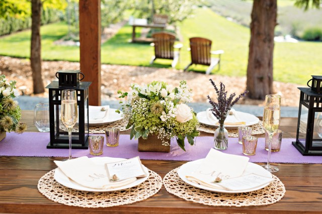 Lavender Wedding Decorations Lavender Burlap Table Runner Bridal Shower Decorations Etsy