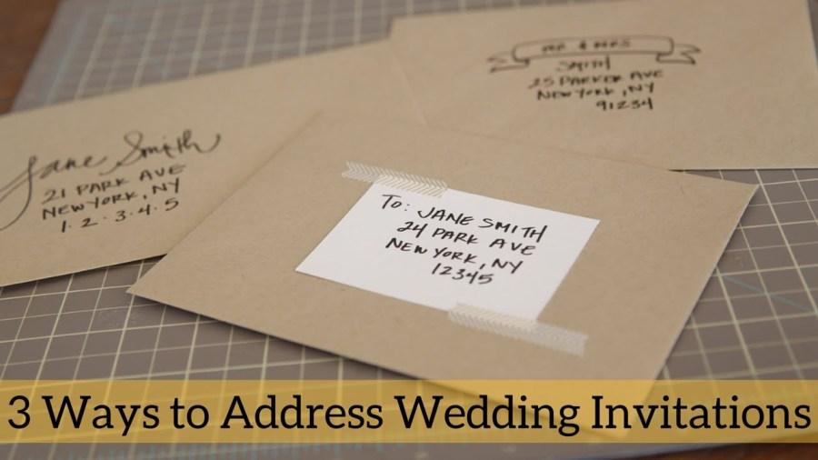 Mailing Wedding Invitations 3 Ways To Address Wedding Invitations Youtube