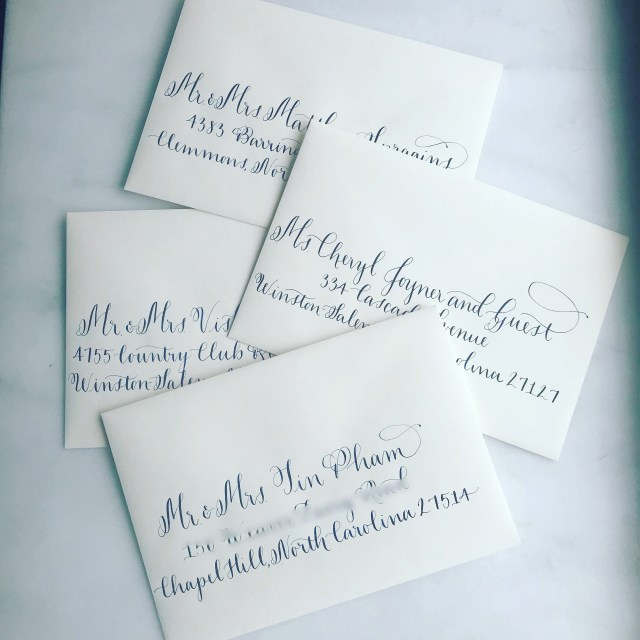 Mailing Wedding Invitations Formal Wedding Calligraphy Addressing Envelope Addressing Elegant