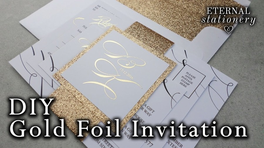 Making Your Own Wedding Invitations Diy Gold Foil Belly Band Wedding Invitations How To Make Your