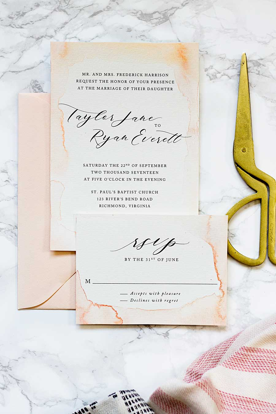 Making Your Own Wedding Invitations Subtle Watercolor Wedding Invitations How To Make Your Own