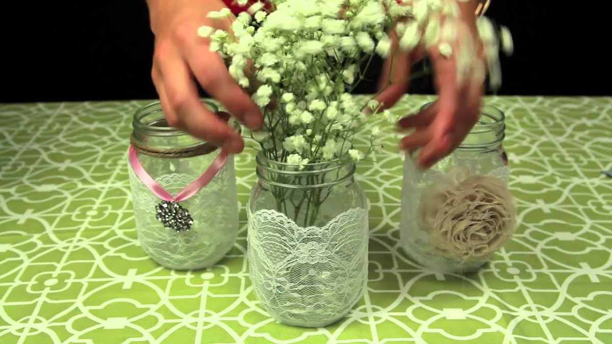 Mason Jar Decorations For A Wedding How To Decorate Mason Jars For A Wedding Youtube